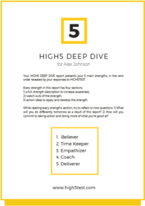 the deep strengths report
